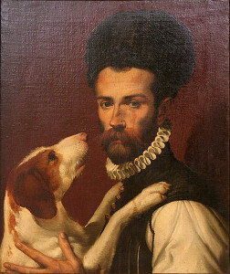 In Bartolomeo Passarotti's 1529 painting, Portrait of a Man with a Dog, a spaniel stares lovingly into the eyes of its owner. (Wikimedia Commons)