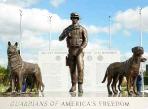 The Military Working Dog Teams National Monument. honors the canine heroes of every major U.S. conflict since World War II. (Credit: Ben Faske)